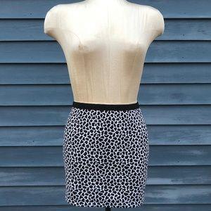 Express Cheetah Print Mini Skirt